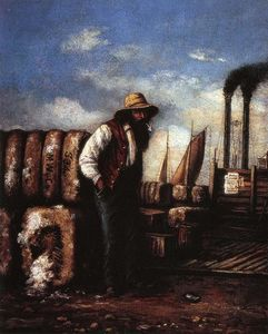 William Aiken Walker - White Man with Cotton Bales on Docks