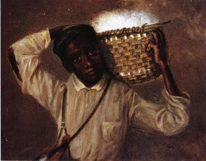William Aiken Walker - Young Boy with Cotton Basket on Shoulders