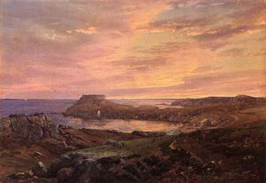 William Trost Richards - Old Fort at Conanicut, Rhode Island