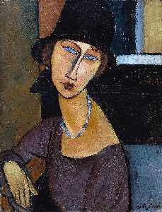 Amedeo Modigliani - Jeanne Hebuterne with Hat and Necklace