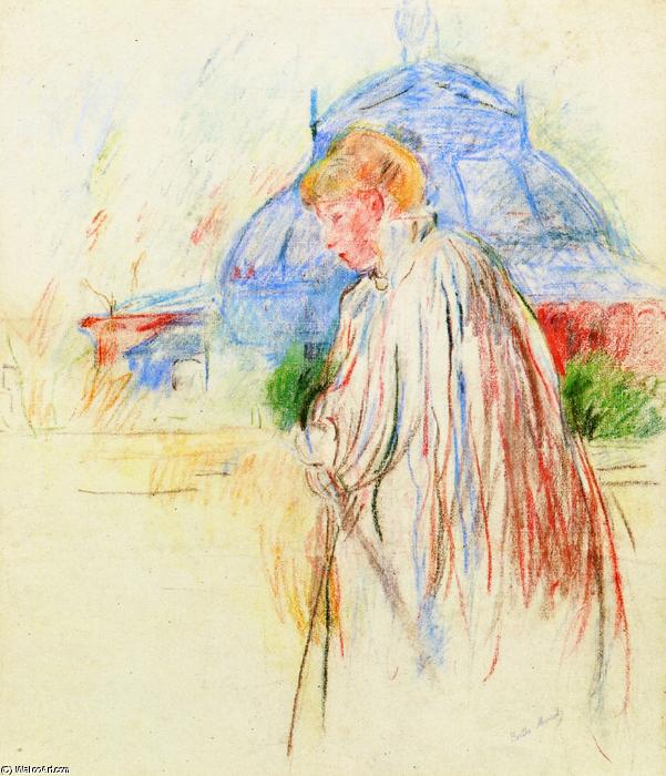 famous painting At the Exposition Palace of Berthe Morisot