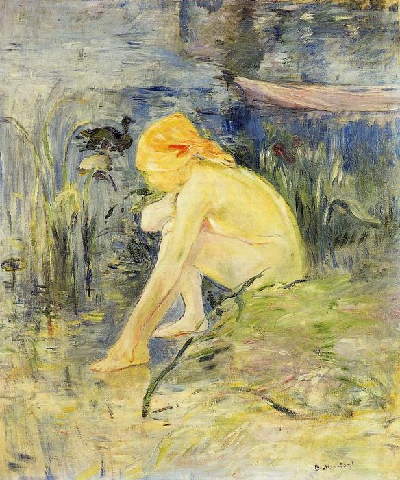 famous painting Bather of Berthe Morisot