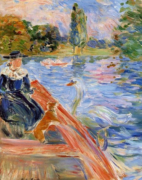 famous painting Boating on the Lake of Berthe Morisot