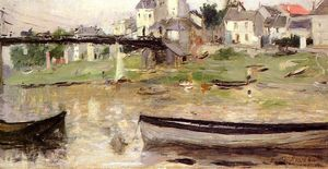 Berthe Morisot - Boats on the Seine