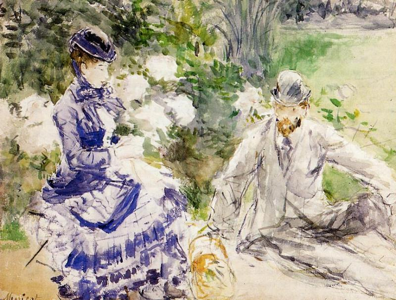 famous painting By the Water of Berthe Morisot