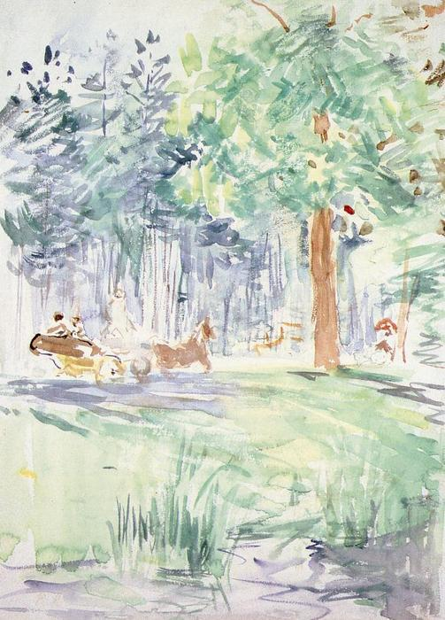 famous painting Carriage in the Bois de Boulogne of Berthe Morisot