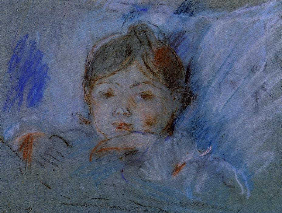 famous painting Child in Bed of Berthe Morisot