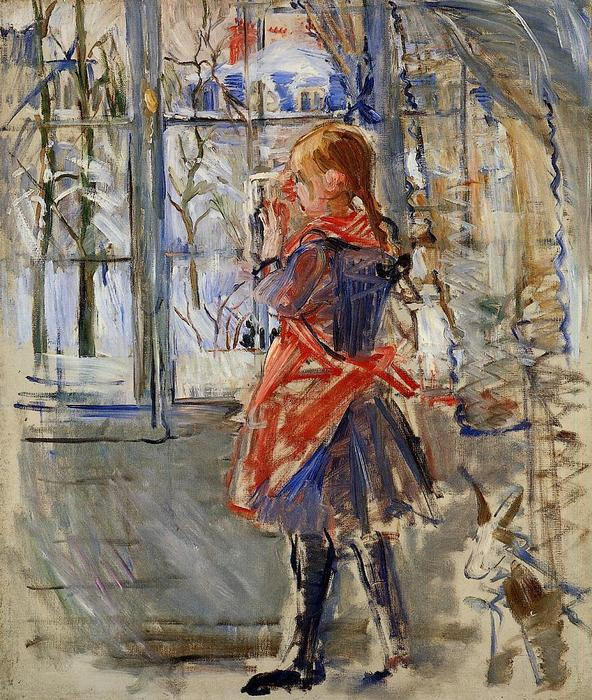 famous painting Child with a Red Apron of Berthe Morisot