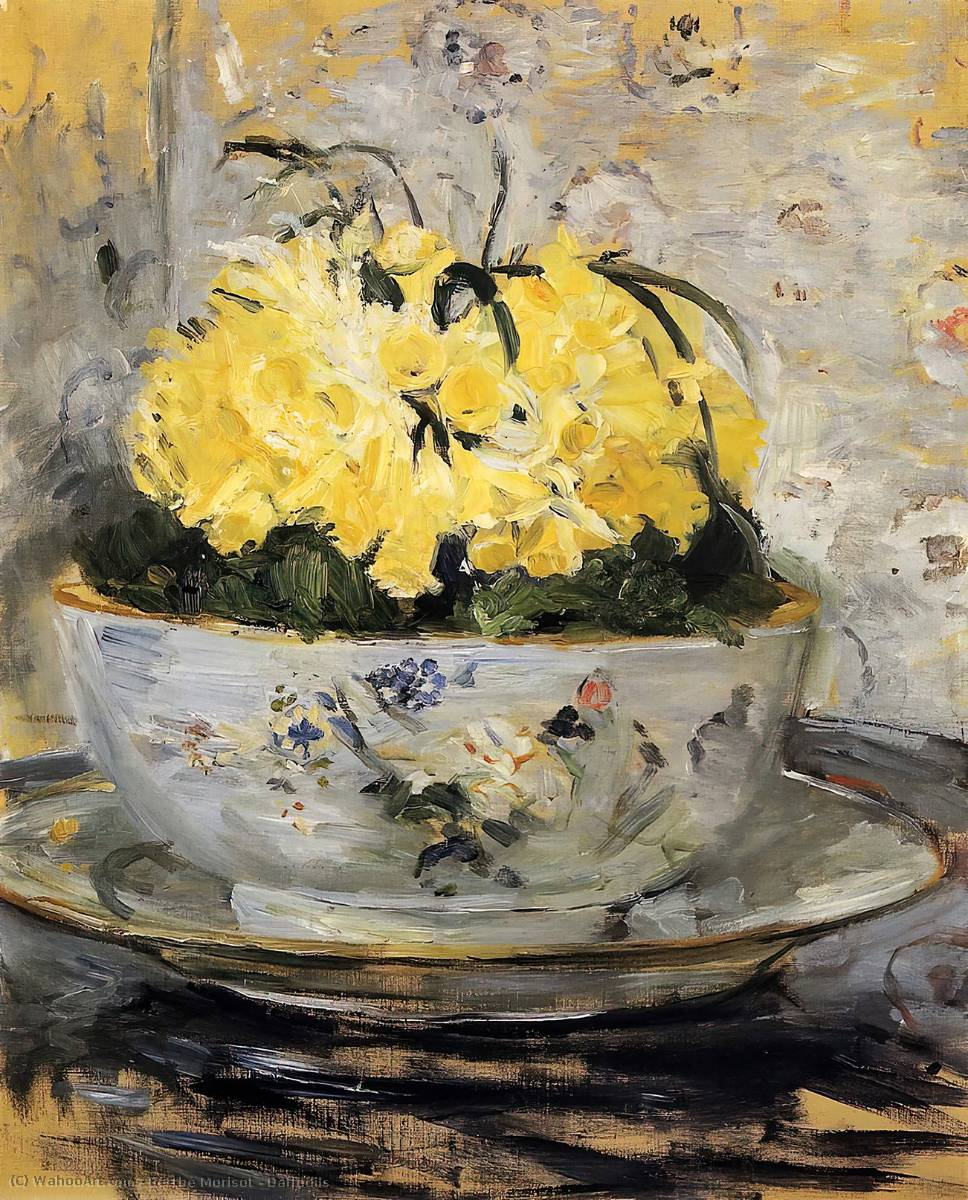 famous painting Daffodils of Berthe Morisot