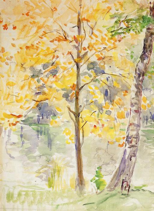 famous painting Fall Colors in the Bois de Boulogne of Berthe Morisot