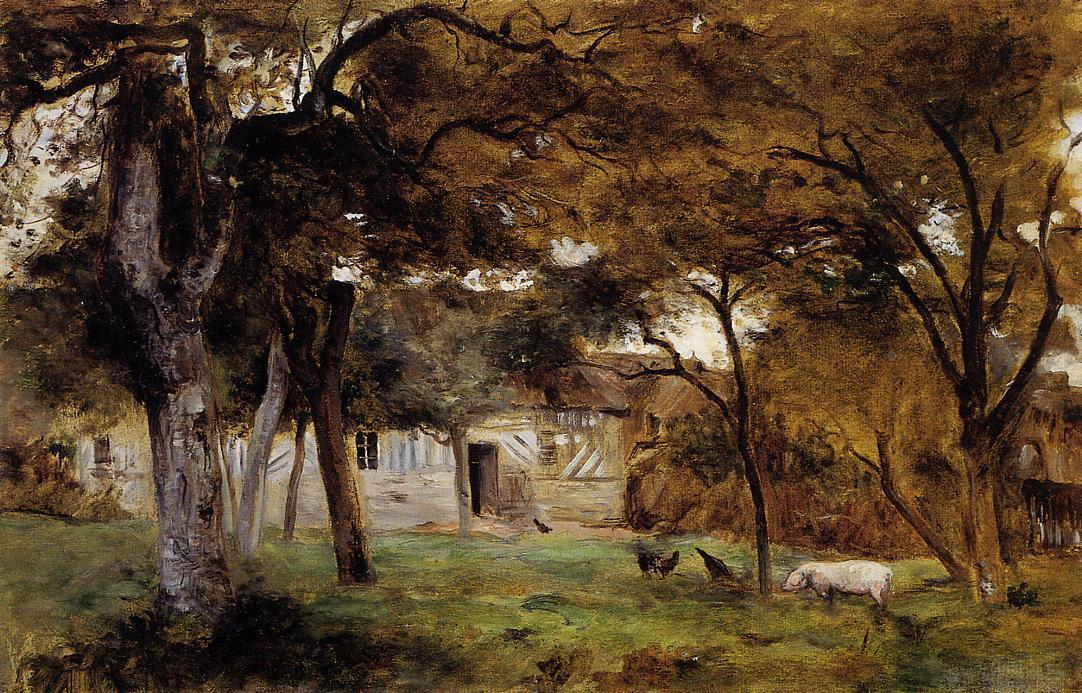 famous painting Farm in Normandy of Berthe Morisot