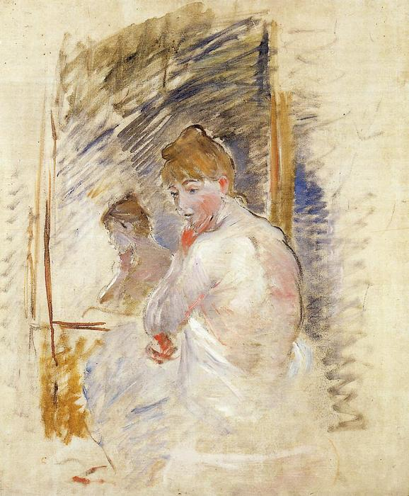 famous painting Getting out of Bed of Berthe Morisot