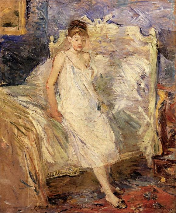 famous painting Getting Up of Berthe Morisot
