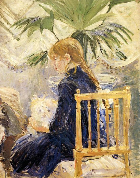 famous painting Girl with Dog of Berthe Morisot
