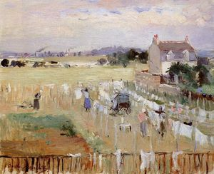 Berthe Morisot - Hanging the Laundry out to Dry