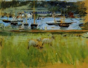 Berthe Morisot - Harbor in the Port of Fecamp