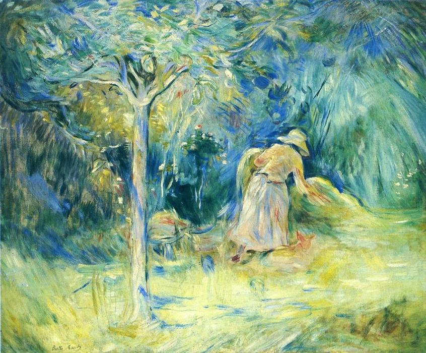famous painting Haying at Mezy of Berthe Morisot