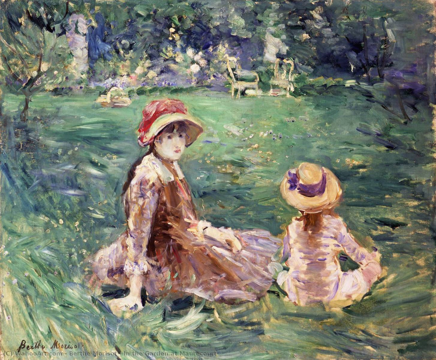 famous painting In the Garden at Maurecourt of Berthe Morisot