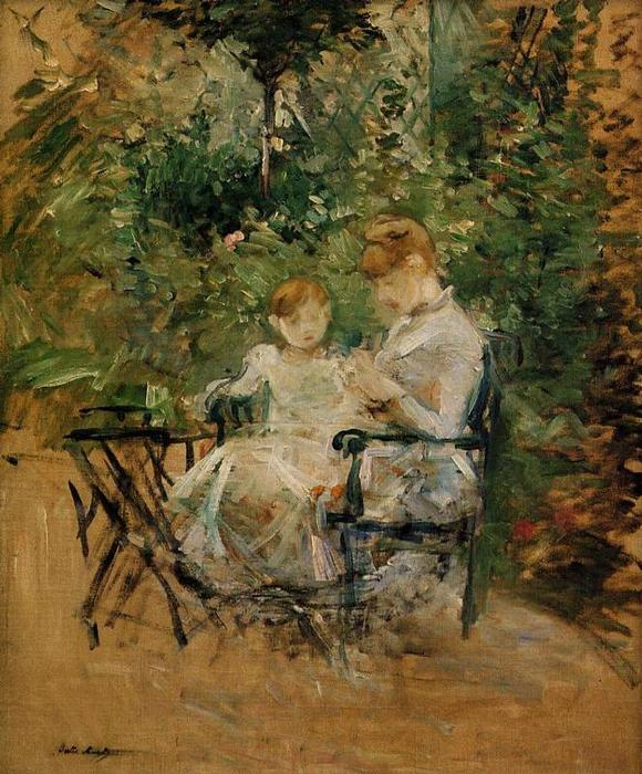 famous painting In the Garden of Berthe Morisot