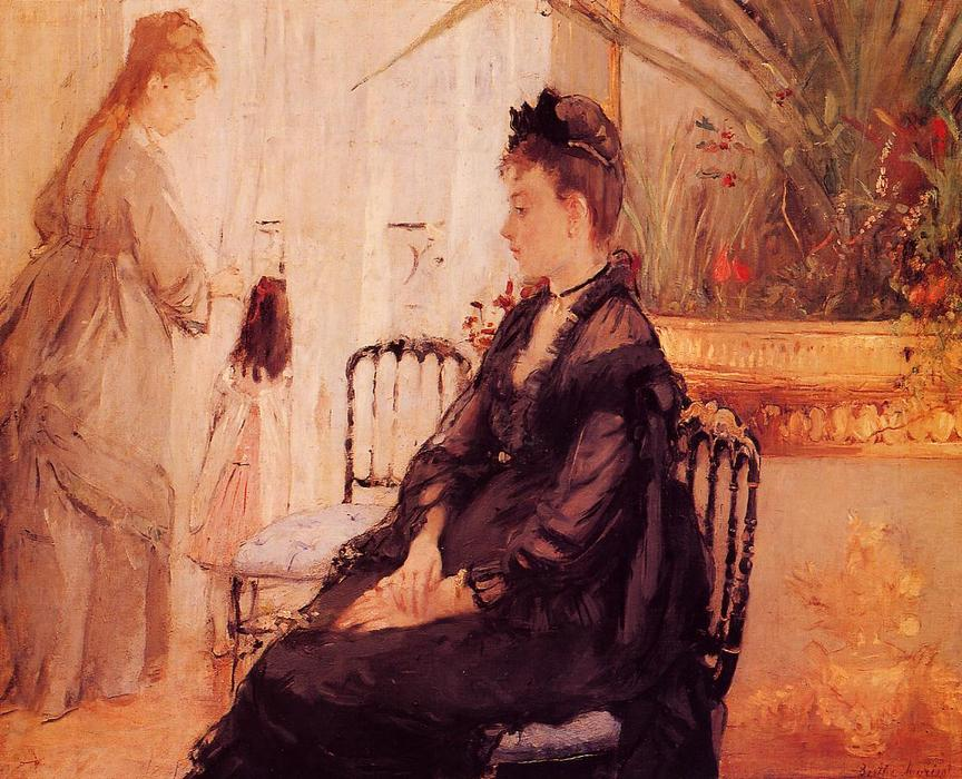 famous painting Interior of Berthe Morisot