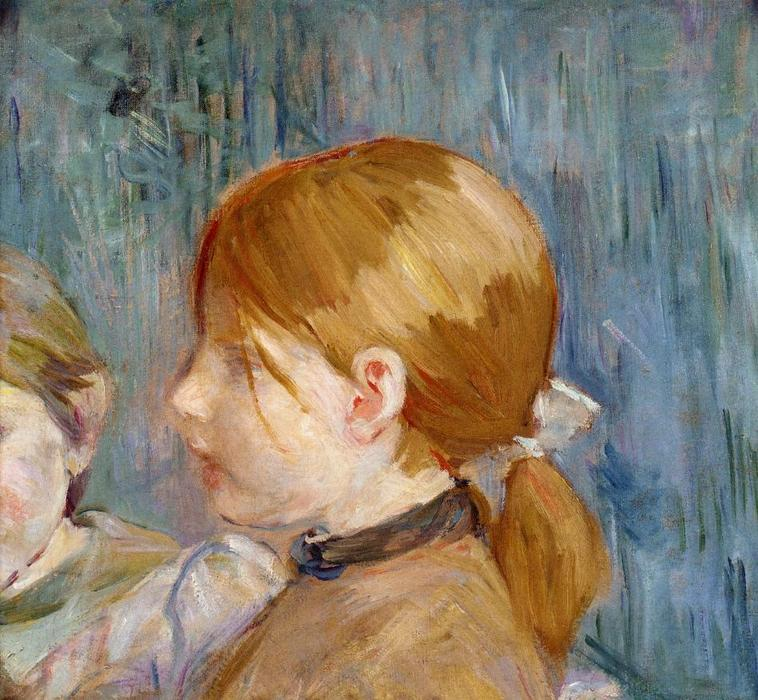 famous painting Jeannie's Head (aka Tete de Jeannie) of Berthe Morisot