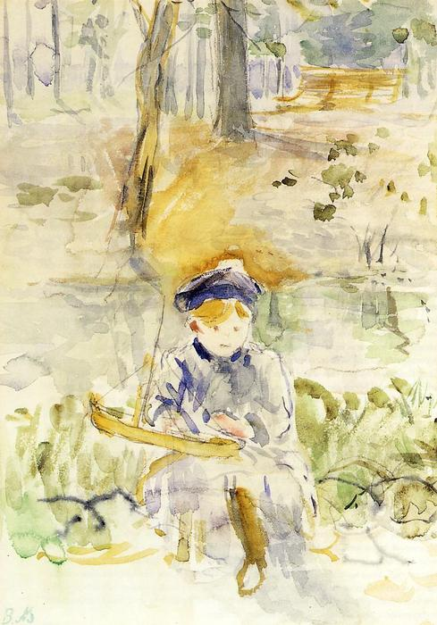 famous painting Julie and Her Boat of Berthe Morisot