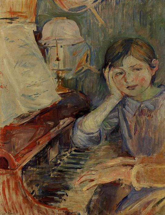 famous painting Julie Listening of Berthe Morisot
