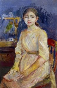 Berthe Morisot - Julie Manet with a Budgie