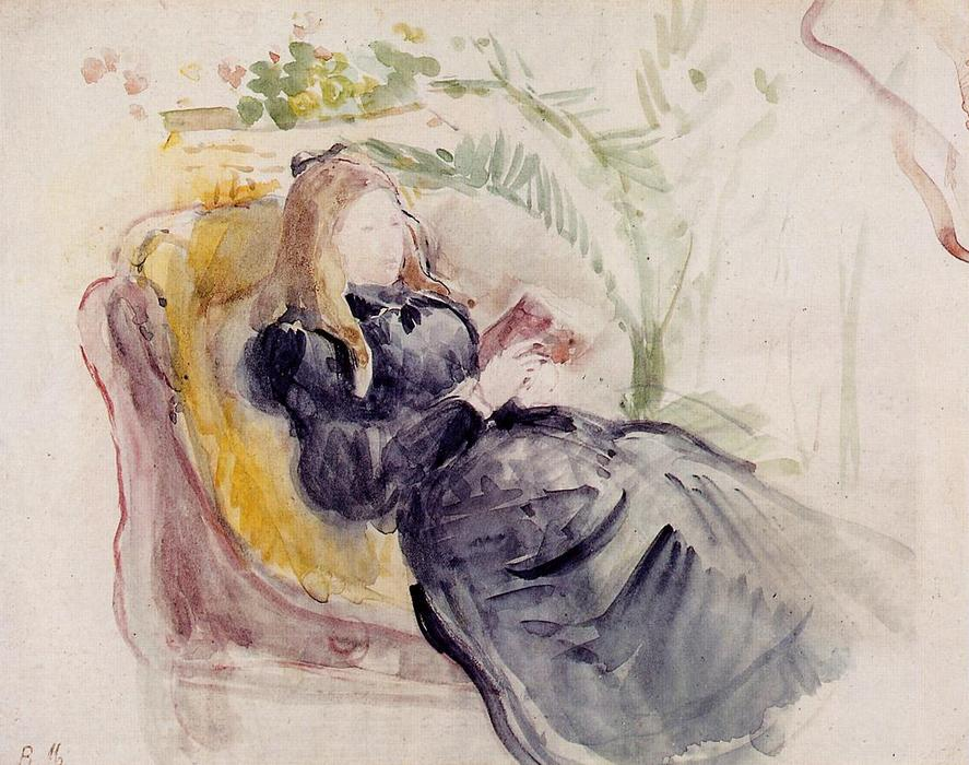 famous painting Julie Manet, Reading in a Chaise Lounge of Berthe Morisot