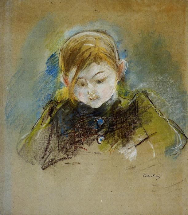 famous painting Julie Writing of Berthe Morisot
