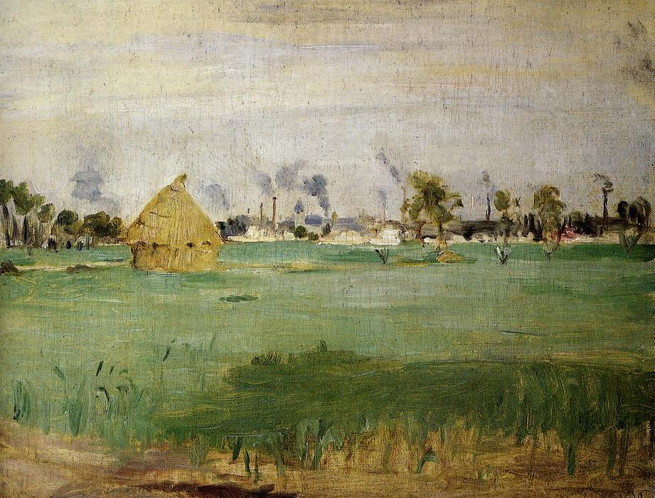 famous painting Landscape at Gennevilliers of Berthe Morisot