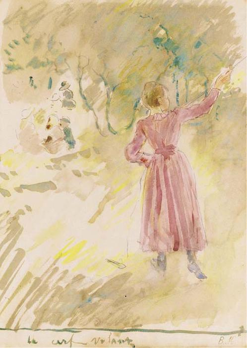 famous painting Le cerf-volant of Berthe Morisot