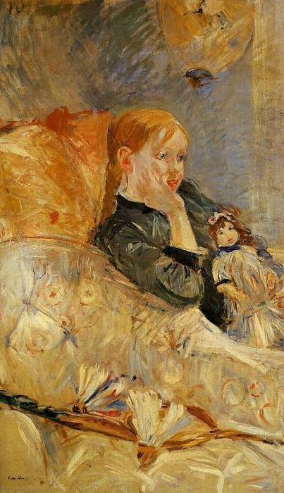 famous painting Little Girl with a Doll of Berthe Morisot