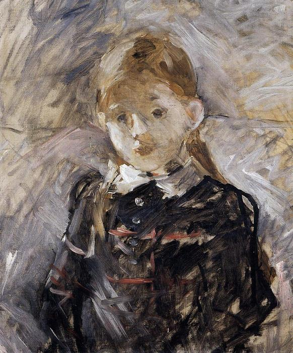 famous painting Little Girl with Blond Hair of Berthe Morisot