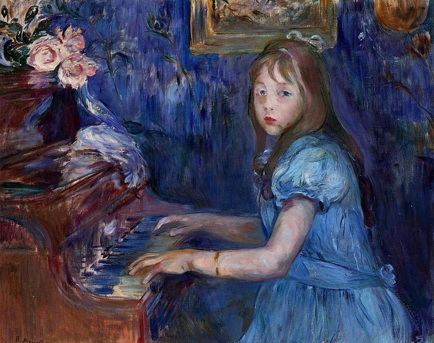 famous painting Lucie Leon at the Piano of Berthe Morisot