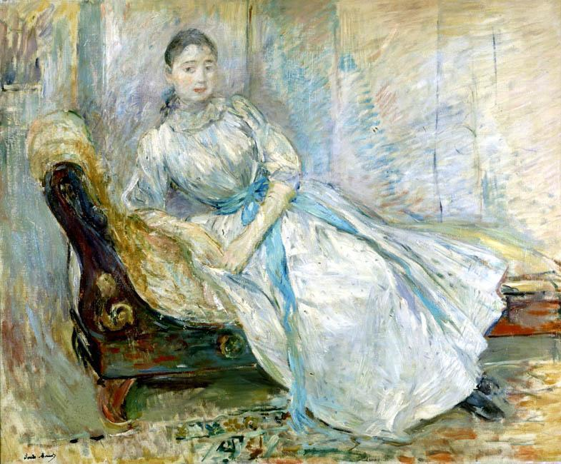 famous painting Madame Albine Sermicola in the Studio of Berthe Morisot