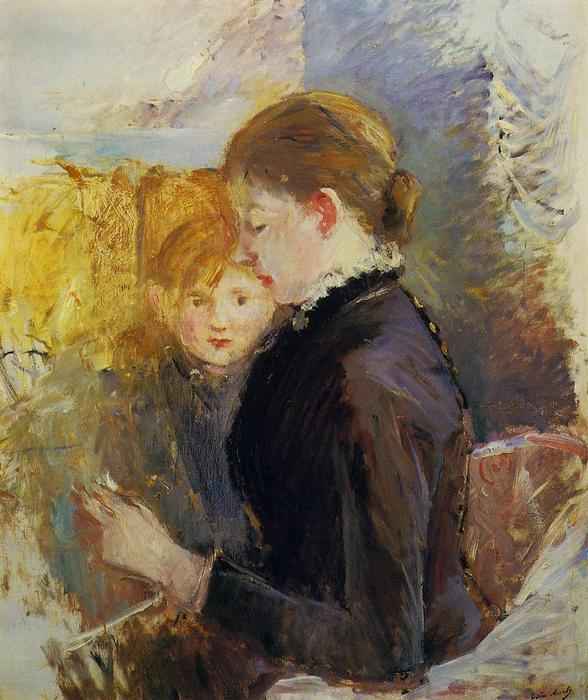 famous painting Miss Reynolds of Berthe Morisot