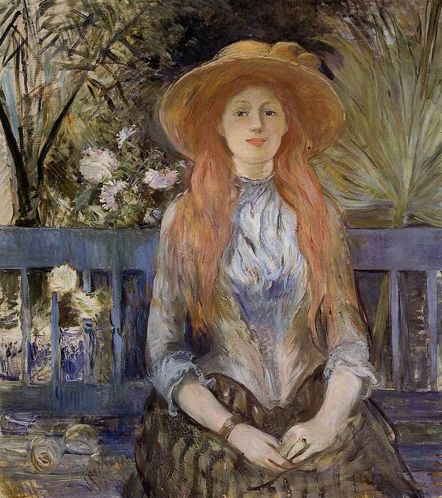 famous painting On a Bench of Berthe Morisot