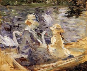 Berthe Morisot - On the Lake in the Bois de Boulogne