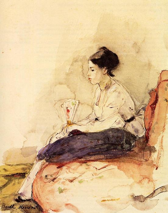 famous painting On the Sofa of Berthe Morisot