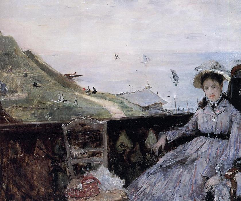 famous painting On the Terrace of Berthe Morisot