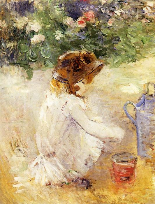 famous painting Playing in the Sand of Berthe Morisot