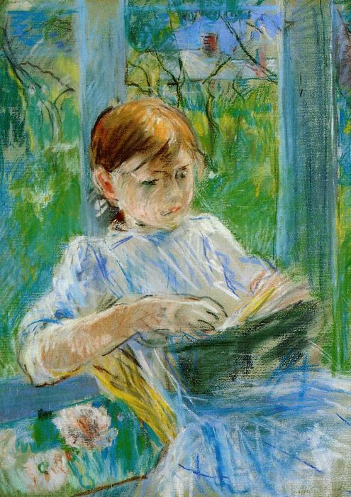famous painting Portrait of the Artist's Daughter, Julie Manet, at Gorey of Berthe Morisot