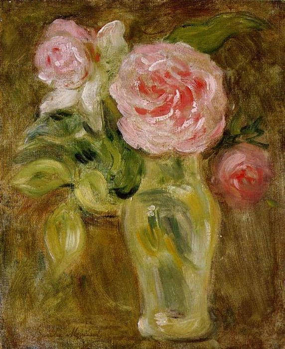 famous painting Roses of Berthe Morisot