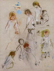 Berthe Morisot - Studies of a Little Girl