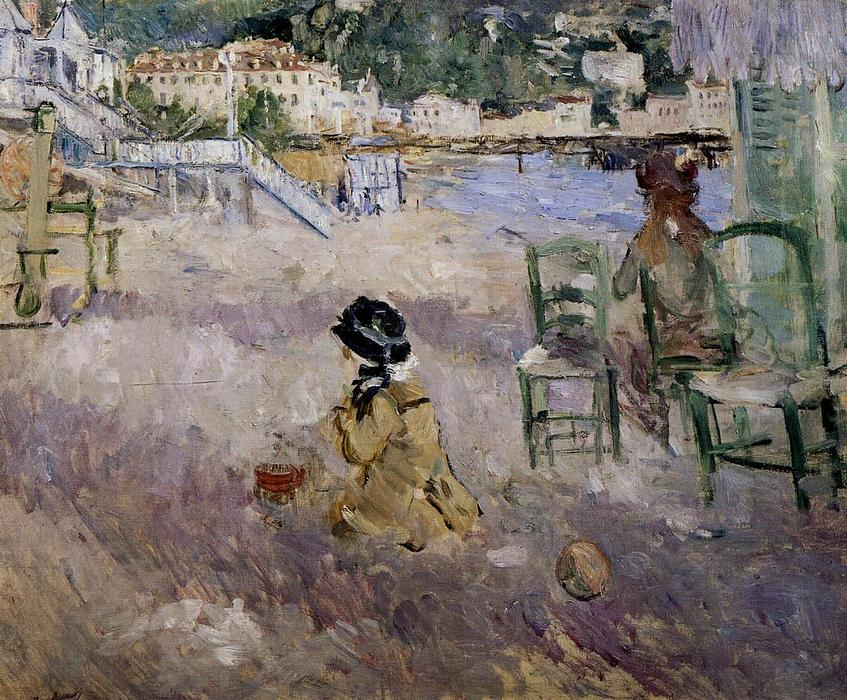 famous painting The beach at Nice of Berthe Morisot