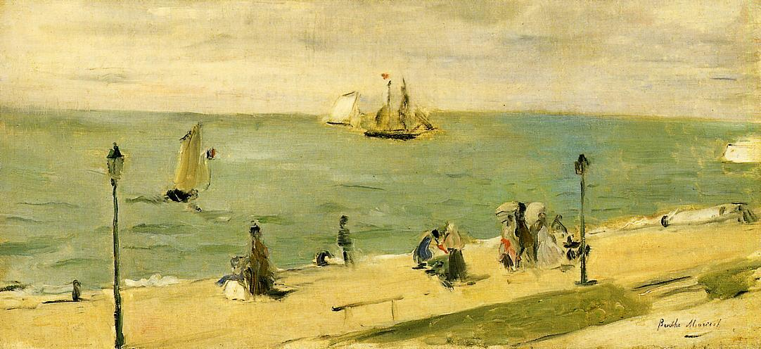 famous painting The Beach at Petit Dalles (aka On the Beach) of Berthe Morisot