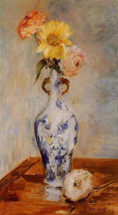 famous painting The Blue Vase of Berthe Morisot