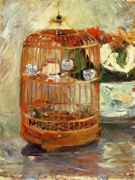 famous painting The Cage of Berthe Morisot