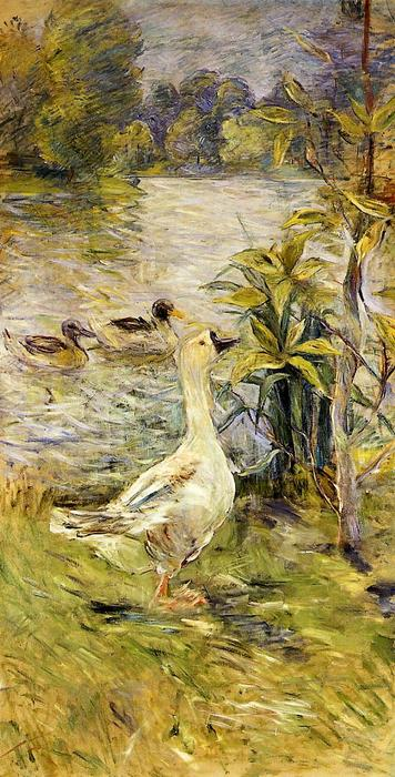 famous painting The Goose of Berthe Morisot